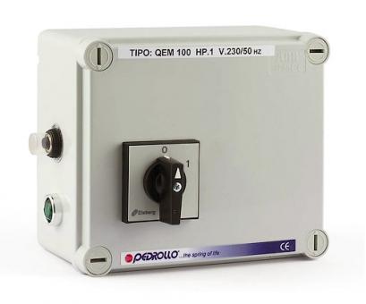 Пульт QEM 100 для погружных скважинных электронасосов Pedrollo