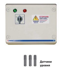Станция управления QST 2500 для погружных скважинных электронасосов Pedrollo с датчиками уровня