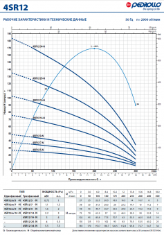 Скважинный насос Pedrollo 4SR 12/34-PD