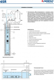Промышленный скважинный насос Pedrollo 6 SR 27/17-P