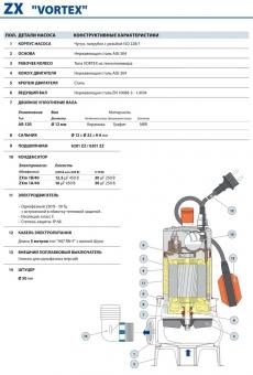 Фекальный насос Pedrollo ZXm 1B/40 каб. 10 м